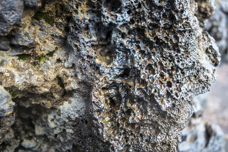 Close up of lava rock formations royalty free stock photo