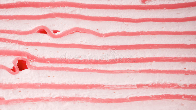Close up layer cream cake use as texture. Or background stock image