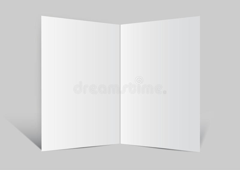 Close up of a leaflet blank white paper vector ba. Ckground royalty free illustration