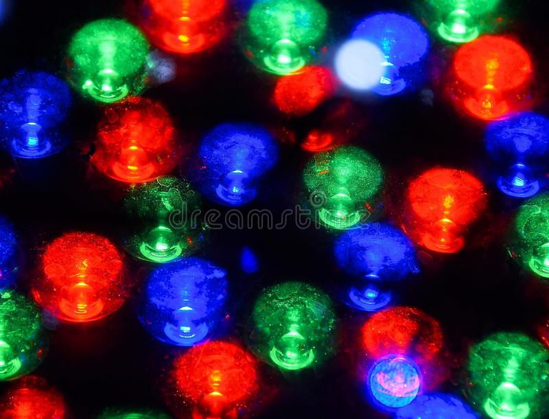 The close up of led light bulb. At night royalty free stock image