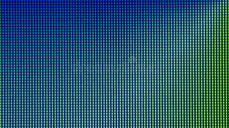 Close-up LEIDENE gloeilampendiode van het scherm van de computermonitor stock foto's