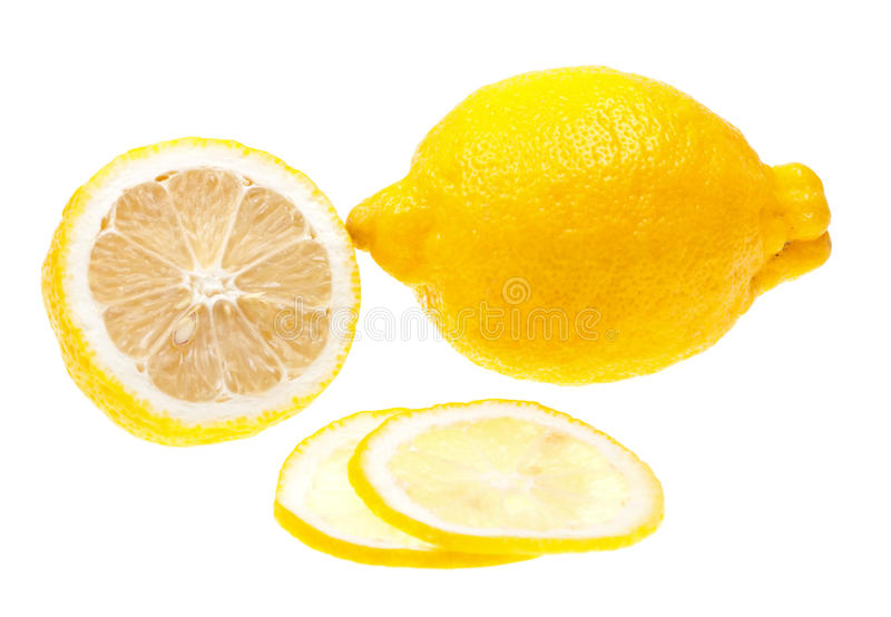 Download Close-up Lemon Slice Isolated On White Stock Photo - Image: 13793016
