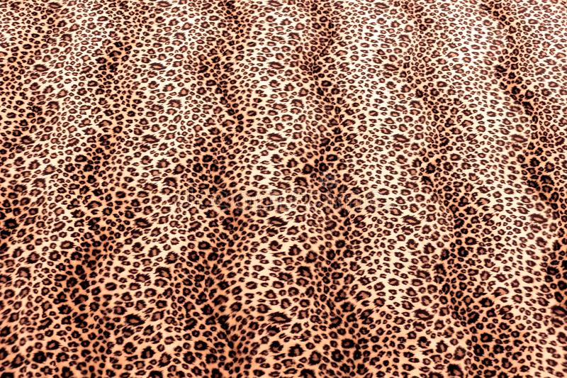 Leopard Print Spots. Close up of Leopard Spots Faux Fur Pattern Material stock photography