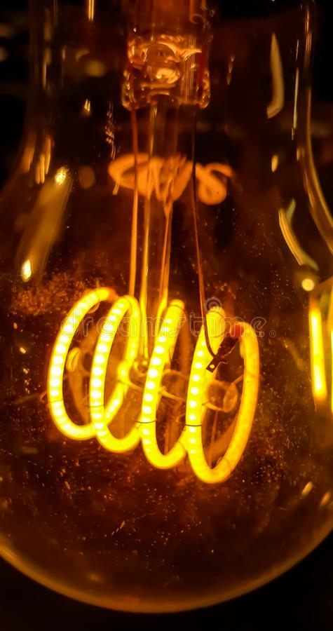 Close up lightbulb wire royalty free stock photo