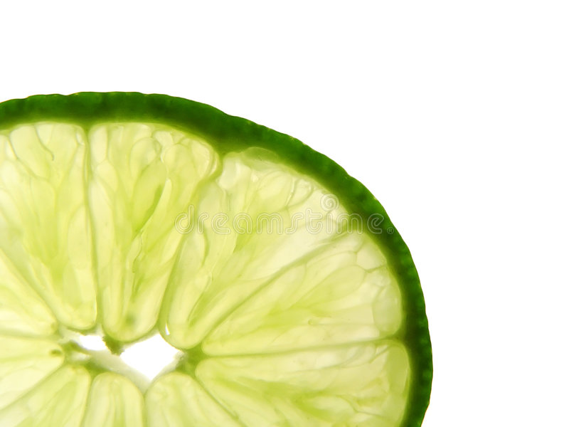 Download Close up of Lime Wedge stock image. Image of isolated, close - 194683