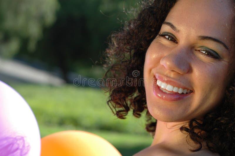 Close up lindo de uma menina fotos de stock royalty free