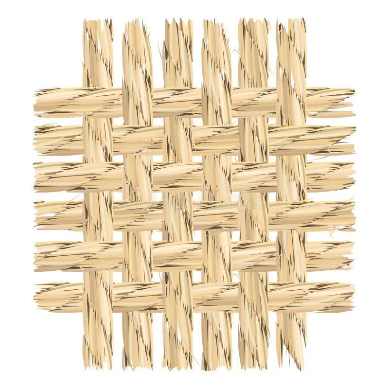 Close up of linen cloth pattern cut off. Vector illustration of vector illustration