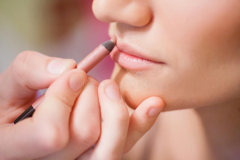Download Close-up of lips stock photo. Image of applying, make - 23623562