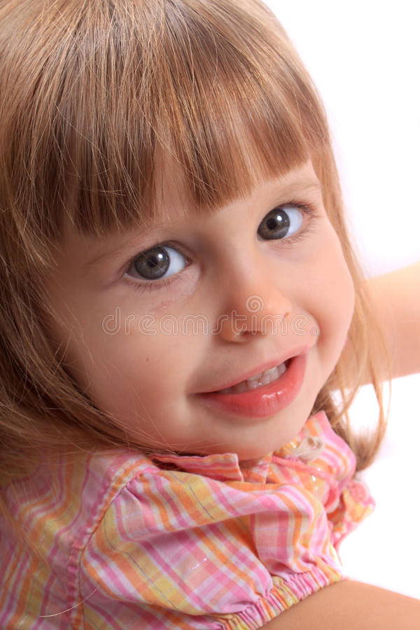 Close up of little girl stock images