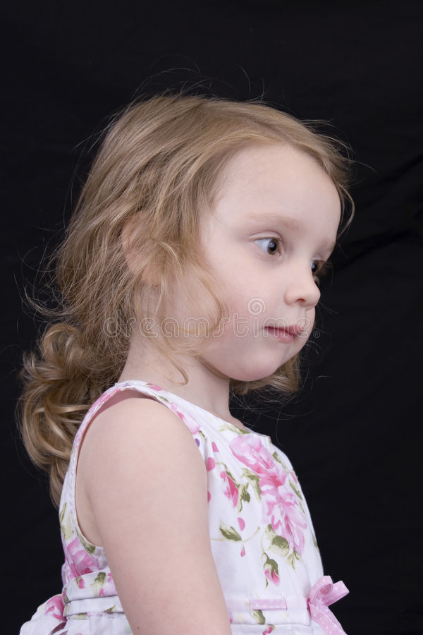 Close-up of a little girl royalty free stock photography