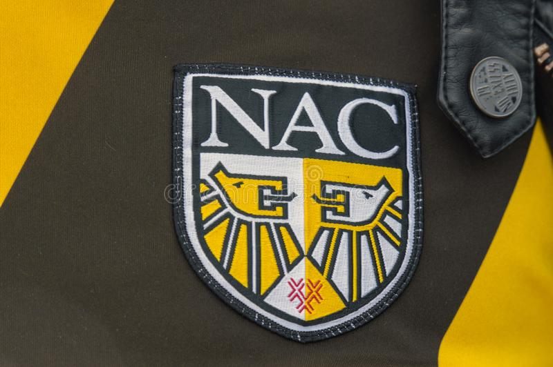 Close Up Of The Logo NAC Football Team At Amsterdam The Netherlands 2019.  stock photography