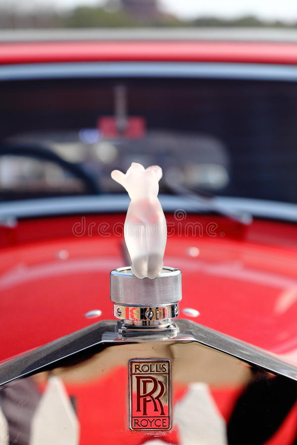 A close up of logo of Rolls Royce stock photography
