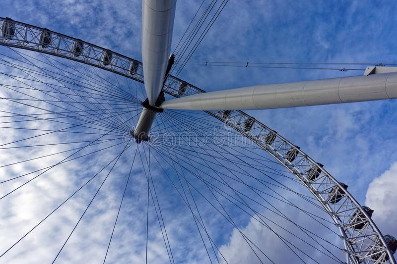 Close-up of London Eye royalty free stock image
