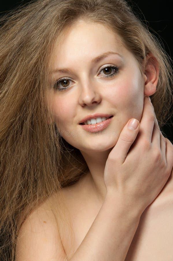 Close up longo bonito saudável do cabelo fotografia de stock royalty free