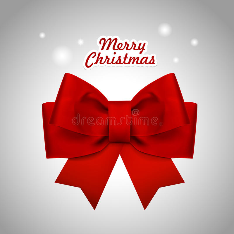 Close-up look at Christmas red ribbon. Over white background royalty free illustration