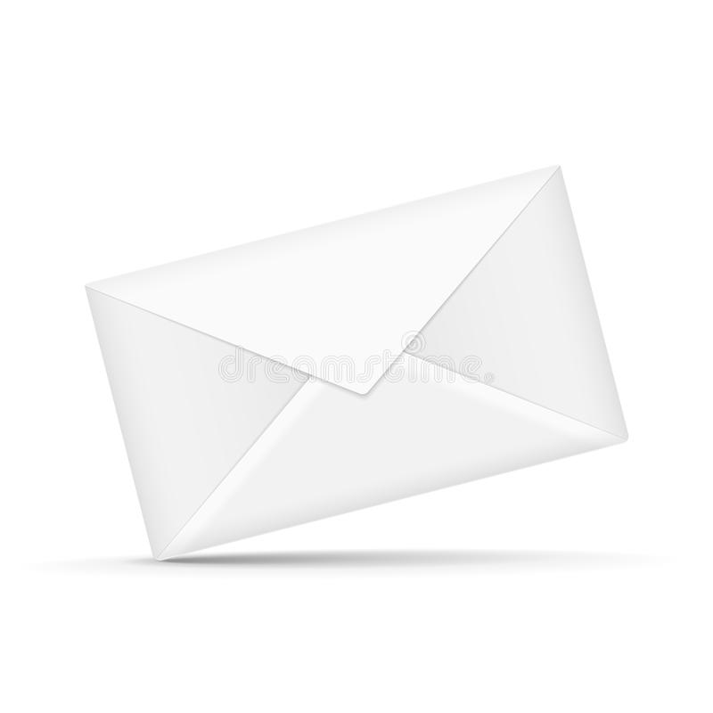 Close up look at envelope. Isolated on white vector illustration