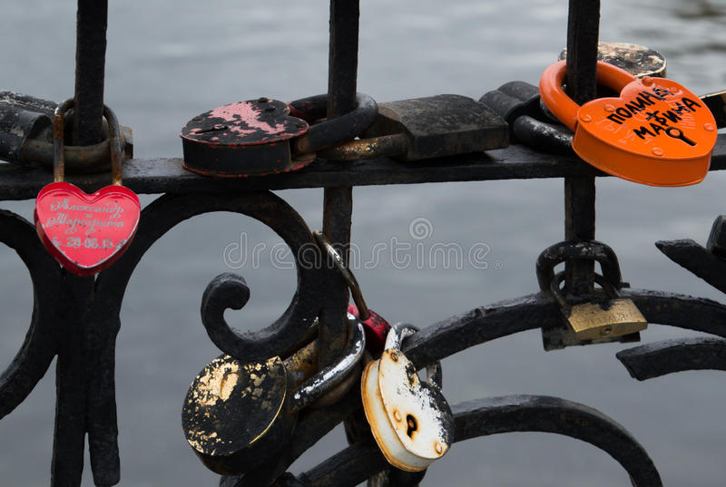 Close Up of Love Locks royalty free stock photography