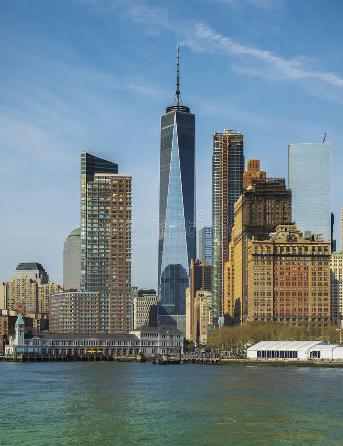 Close-Up of lower Manhattan cityscape. New York City, USA stock photography