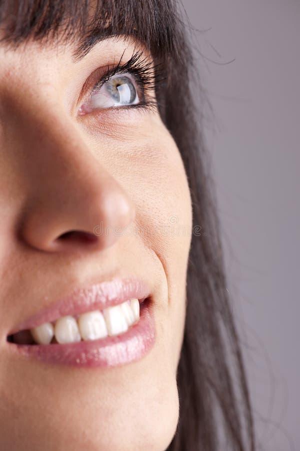 Close-up młodej kobiety twarz zdjęcie stock
