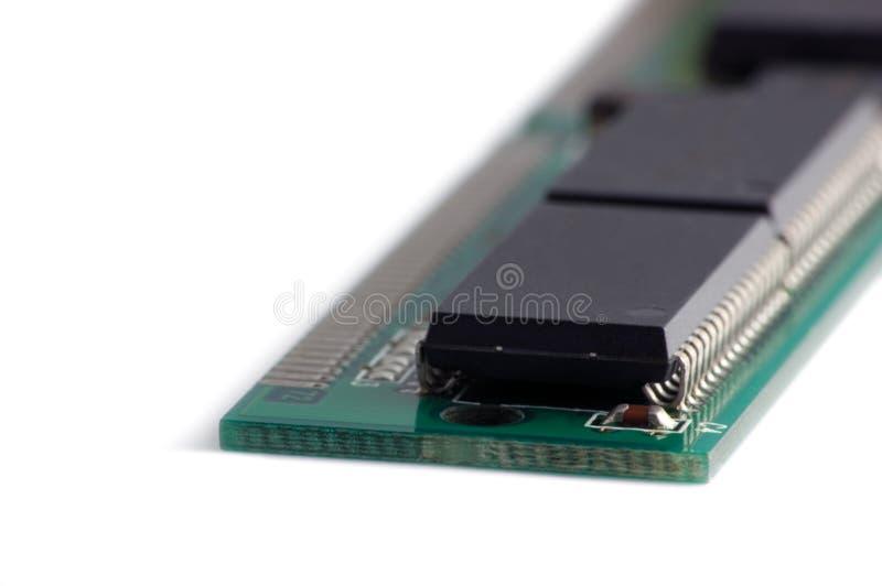Close up macro do chip de memória isolado foto de stock royalty free