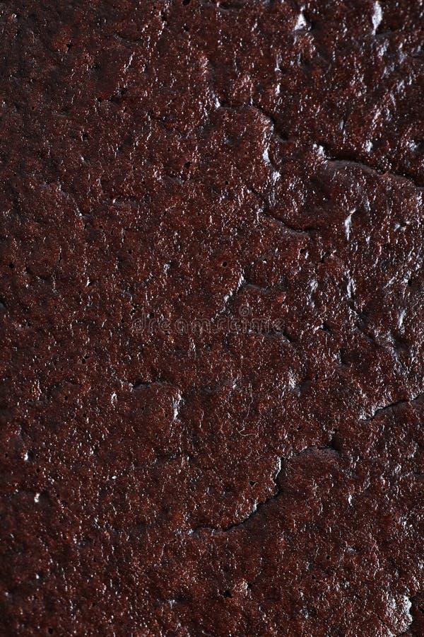 Close Up Macro Photograph Of Chocolate Cake Texture Stock