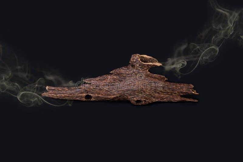 Close Up Macro Shot Of Sticks Of Agar Wood Or Agarwood Isolated royalty free stock images