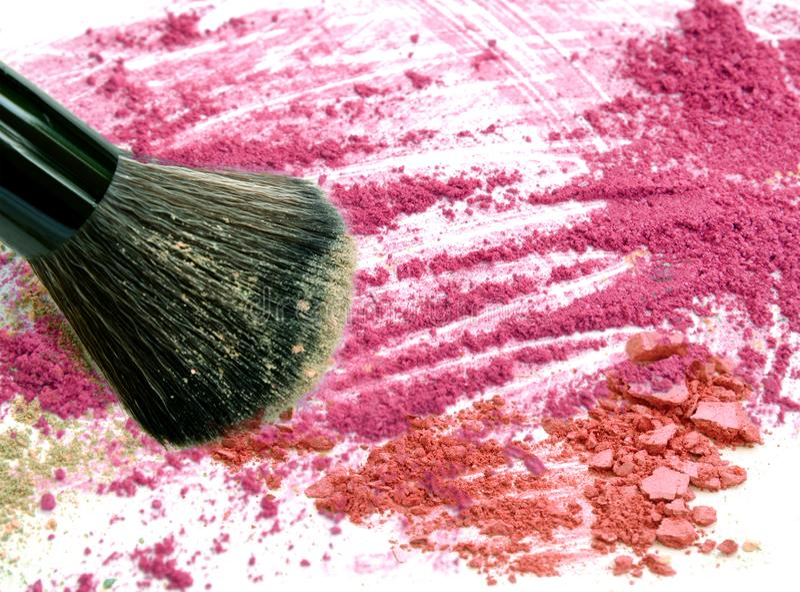 Close up make up blush on crushed powder. royalty free stock photography