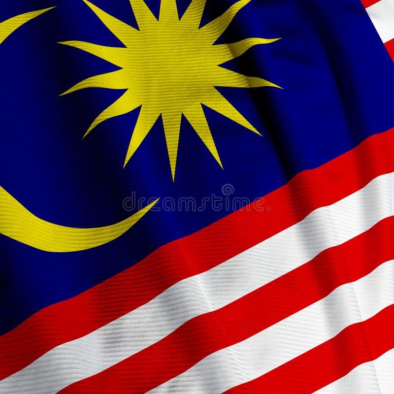 Close up malaio da bandeira fotografia de stock