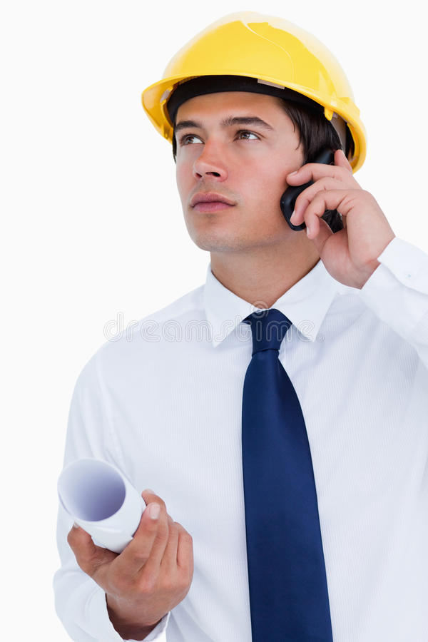 Download Close Up Of Male Architect Listening To Caller Stock Photo - Image: 23015664