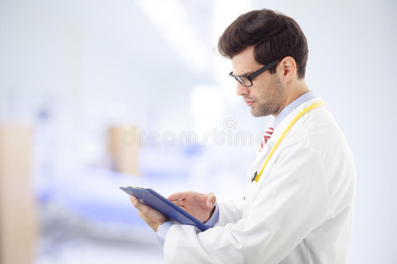 Download Close-up Of A Male Doctor Smiling Stock Photo - Image of adult, enjoyment: 33635546