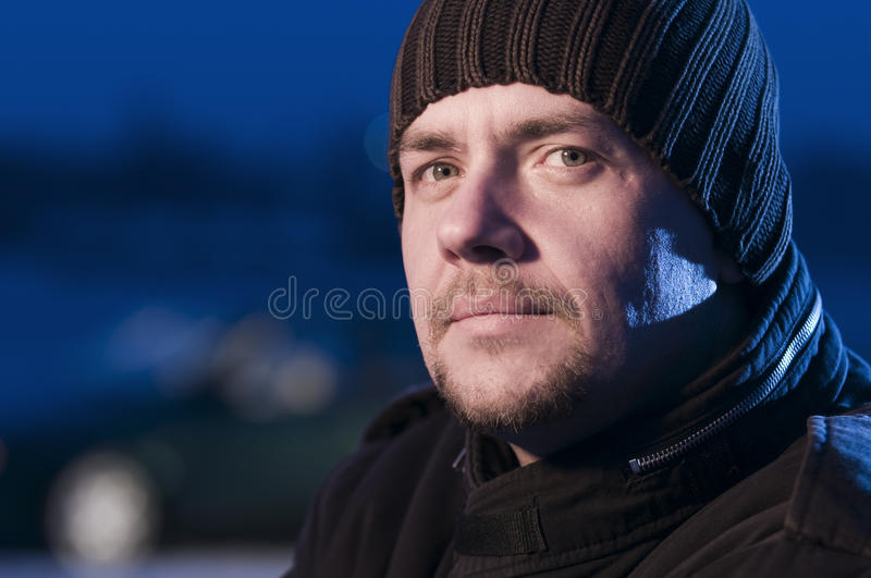 Download Close up of man woolly hat stock photo. Image of silver - 24676490