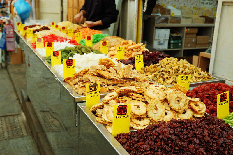 Close Up Of Many Colorful Dried Fruits Royalty Free Stock Photography