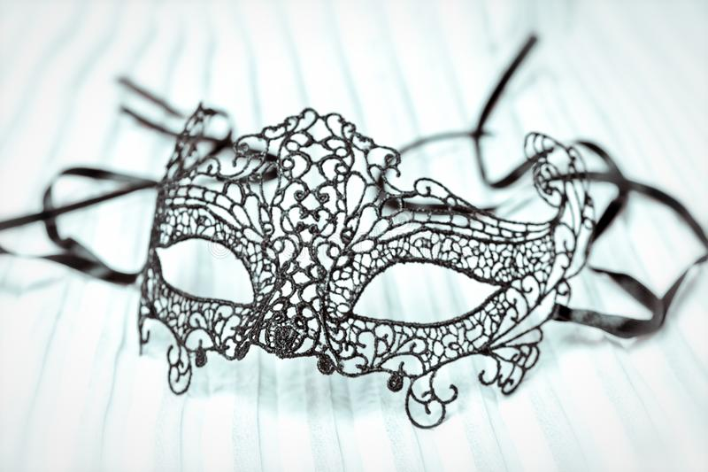 Close up of Mardi Gras or Carnival mask on a white background. stock images