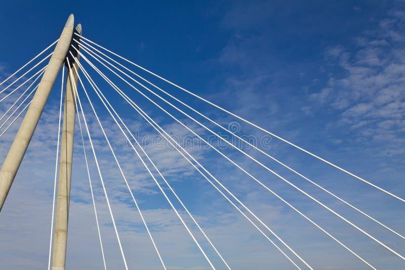 Close up of the Marine Way Bridge Southport Merseyside October 2011 stock images