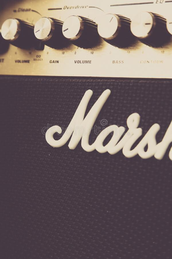 Close Up Of Marshall Amplifier Free Public Domain Cc0 Image