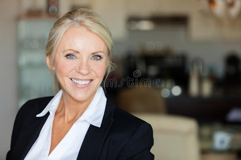 Close up of a mature lawyer smiling royalty free stock images
