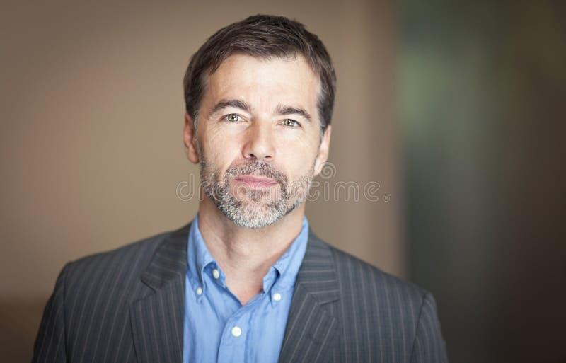 Close up OF A Mature Man stock image