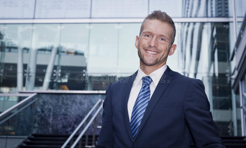 Close up OF A Mature Man Smiling At The Camera royalty free stock image
