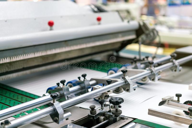 Close up measuring unit control wheel and roller for paper feeder unit of modern and high technology of automatic publication or royalty free stock photography