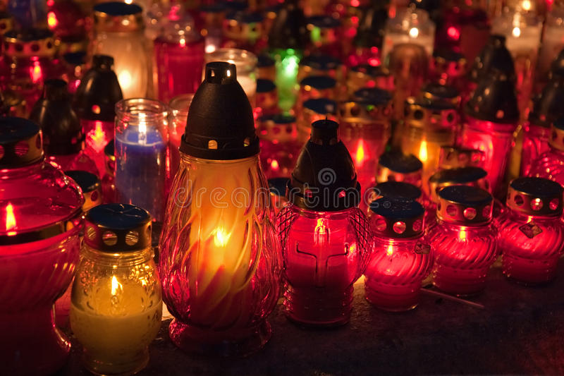 Download Close-up Of Memorial Candles On The All Saints Day Stock Photo - Image: 11035474