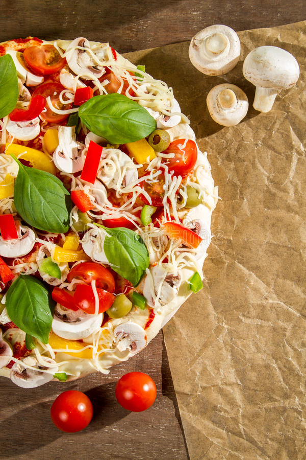 Close-up of the menu pizza background stock images