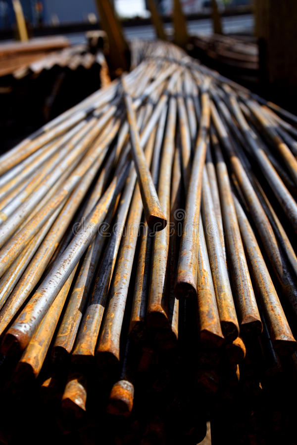 Close up of metal bars royalty free stock photography