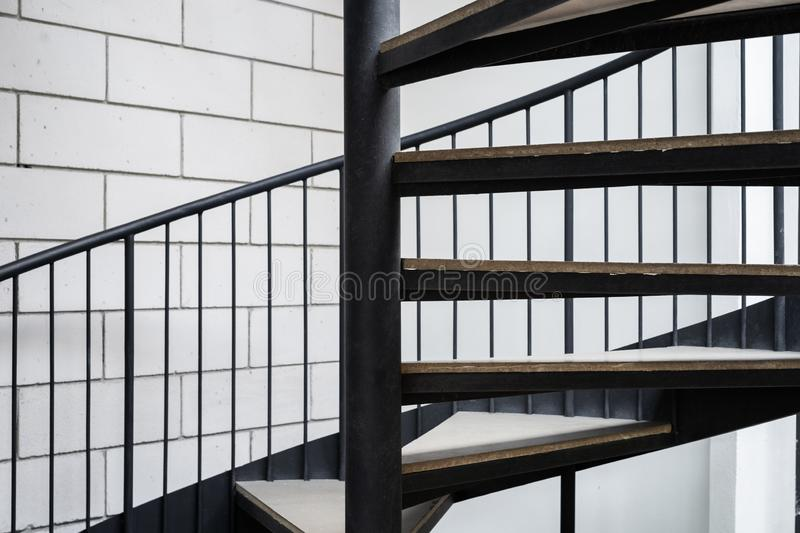 Close up of spiral staircase stock photography