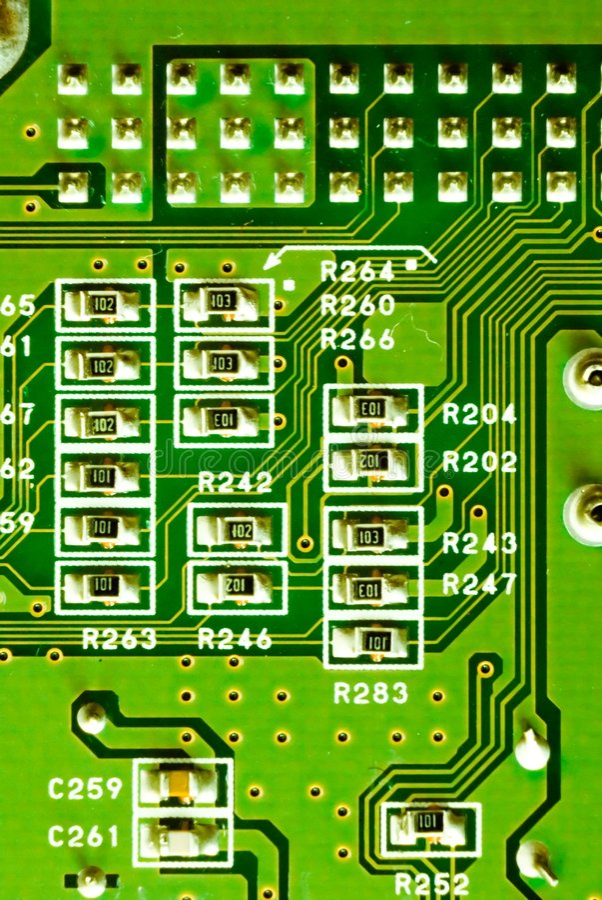 Close-up of micro circuit stock photos