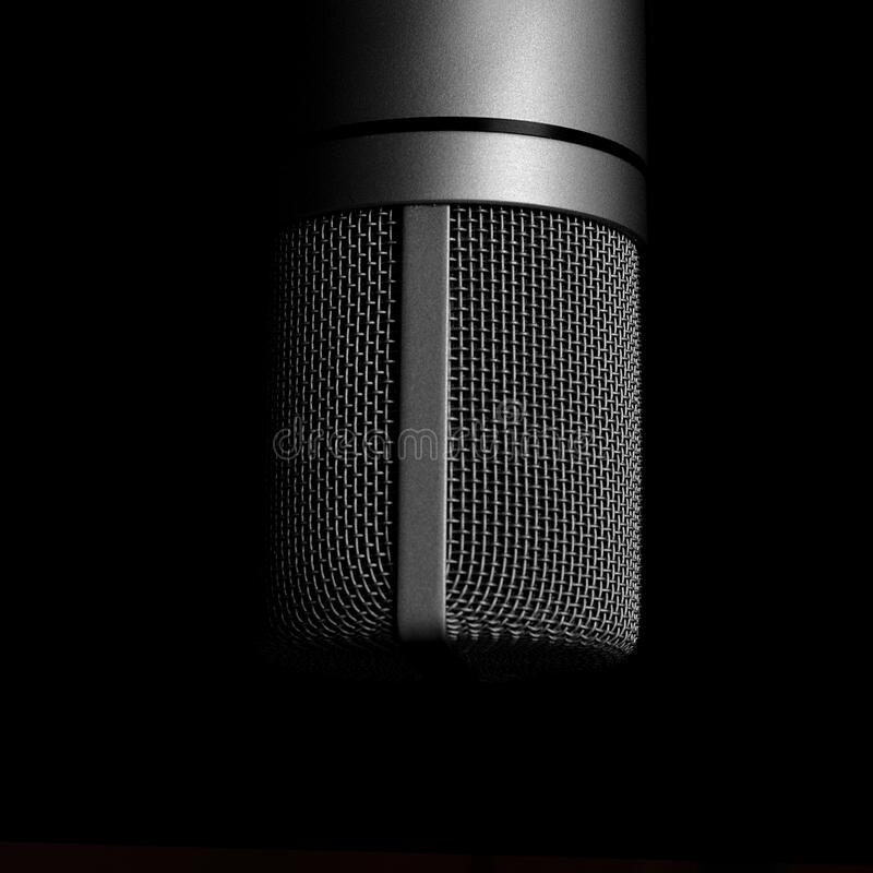 Close up of microphone royalty free stock photo