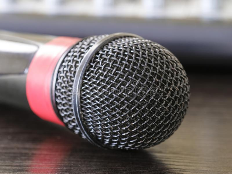 Close up microphone stock images