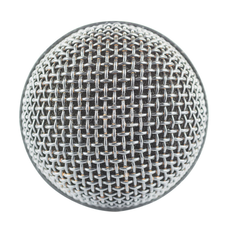 Close-up microphone isolated on white background royalty free stock images