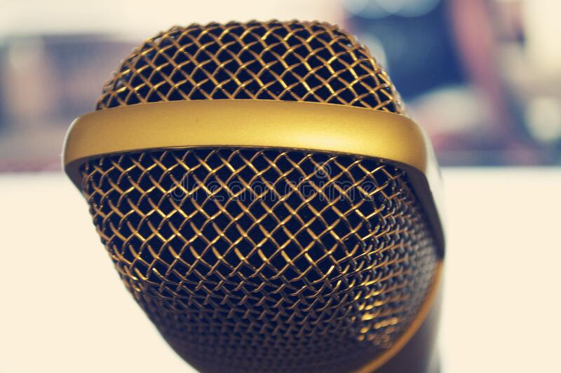 Close up of microphone royalty free stock photos