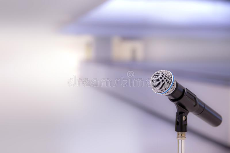 Close up microphone in studio. royalty free stock photos