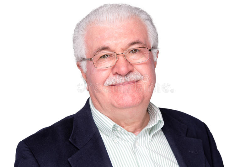 Close up Middle Age Man Smiling at the Camera royalty free stock photo